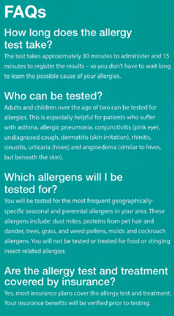 how do they do allergy tests on adults
